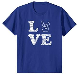 I Love Rock and Roll Music Band Concert Distressed T Shirt