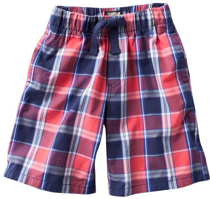 Osh Kosh plaid shorts - boys 4-7x