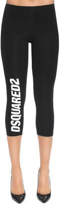 DSQUARED2 Logo Print Jersey Leggings