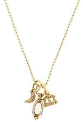 Temple St. Clair 18K Quartz & Diamond Charm Necklace