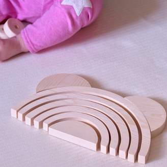Ibby&Me Wooden Stacking Rainbow With Ears