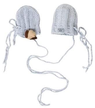 Lili Gaufrette Boys' Knit Pom-Pom Mittens