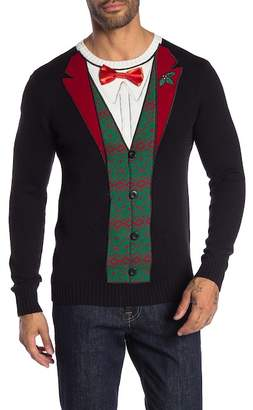 Ugly Christmas Sweater Bow Tie Tuxedo Christmas Sweater