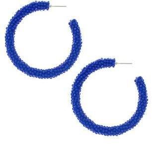 Sachin + Babi Glass Beaded Hoop - Imperial Blue