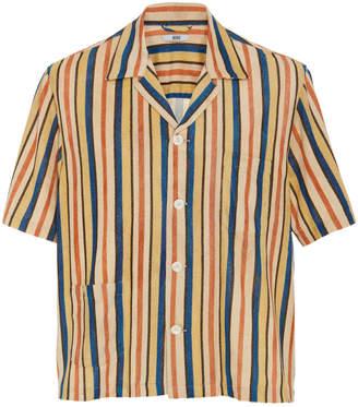 Bode Vancouver Striped Cotton Button-Up Shirt