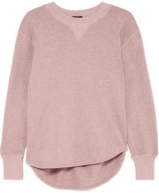Bassike Organic Mélange Cotton-jersey Sweatshirt - Pink