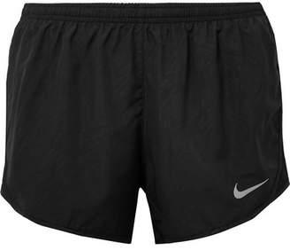 Nike Tempo Mesh-paneled Shell Shorts - Black