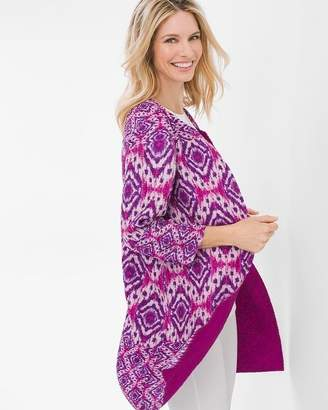 Travelers Collection Reversible Crushed Ikat Jacket