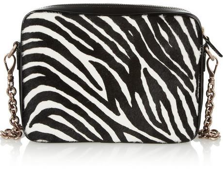 Hogan Katie Grand Loves Zebra-print calf hair shoulder bag