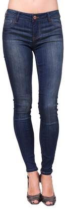 Celebrity Pink CelebrityPink Jeans Women Middle Rise Faded Skinny Jeans with Fake Front Pockets