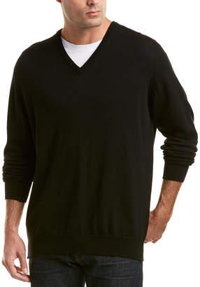 Turnbull & Asser Merino V-Neck Sweater