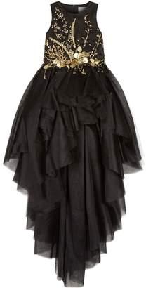 Mischka Aoki Sequin High Low Gown