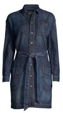 Polo Ralph Lauren Casual A-Line Tie-Waist Denim Shirt Dress