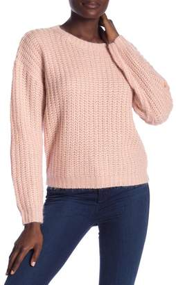 Ivory Rose Metallic Crew Neck Sweater