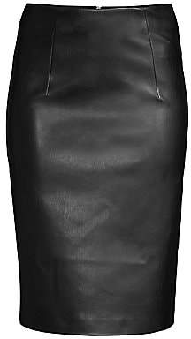 Piazza Sempione Women's Faux-Leather Pencil Skirt