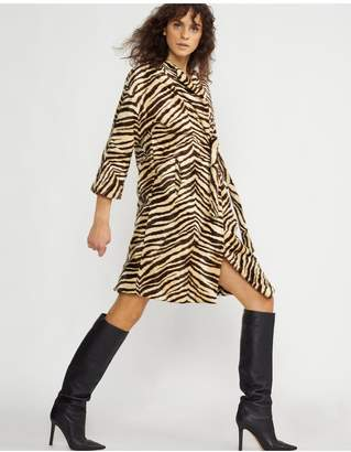 Cynthia Rowley Zebra Wrap Coat