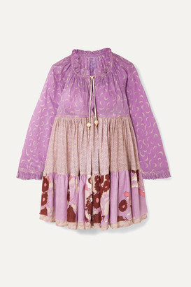 Yvonne S Paneled Printed Cotton-voile Dress - Lilac