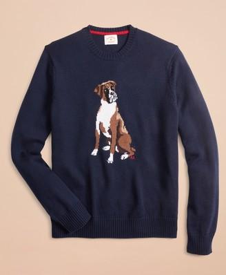 Brooks Brothers Merino Wool Boxer Sweater