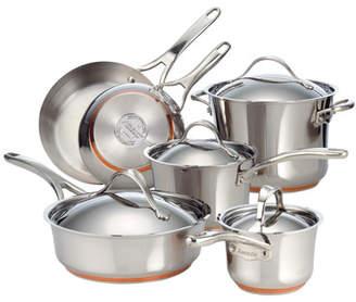 Anolon Nouvelle Copper Stainless Steel 10 Piece Cookware Set