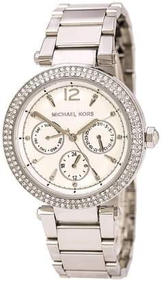 Michael Kors MK5779 Women's Parker Crystal Accented Bezel Dial Steel Bracelet Watch