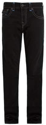 True Religion - Contrast Stitch Mid Rise Straight Leg Jeans - Mens - Black