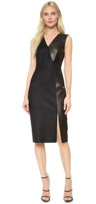 Jason Wu Leather Panel Sheath Dress $2,495 thestylecure.com