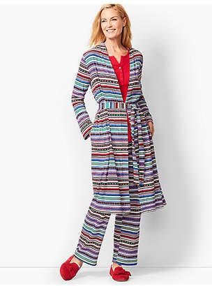 Talbots Fair Isle Print Robe