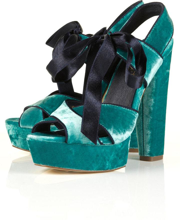 LUXURY Velvet Platform Sandals