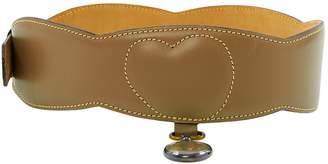 Alaia Vintage Beige Leather Belts