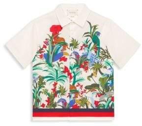 Gucci Boy's Floral Button-Down Shirt