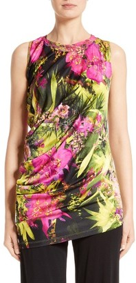 Women's Fuzzi Fern Print Draped Jersey Top $420 thestylecure.com