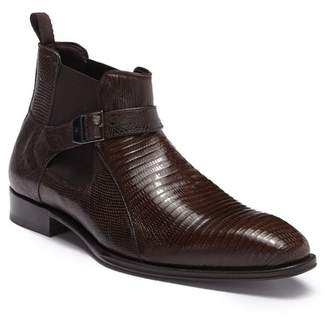 Mezlan Genuine Lizard & Leather Chelsea Boot