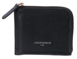 MAISON KITSUNÉ Leather Zip Wallet