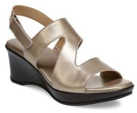 Naturalizer Valerie Metallic Leather Slingback Sandals