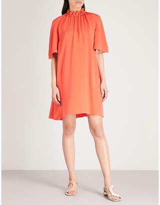 Roksanda Daena drawstring-collar silk-crepe dress