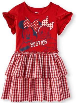 Minnie Mouse Tiered Skirt Dress (Toddler Girls)