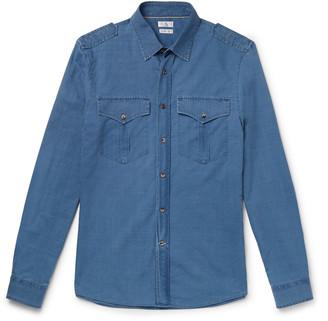 Brunello Cucinelli Slim-Fit Cotton-Chambray Shirt