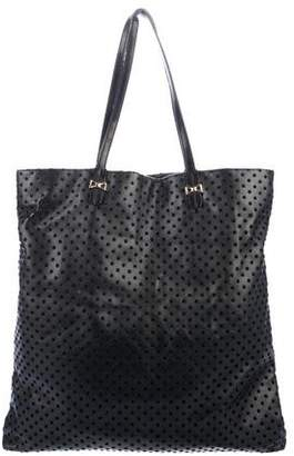 RED Valentino Leather Textured Tote