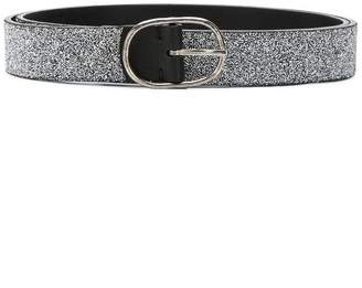 Golden Goose glitter-effect buckle belt