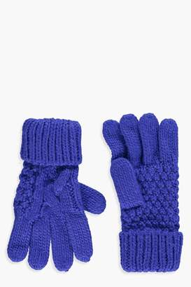 boohoo Olivia Knitted Cable Glove