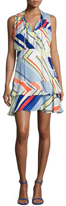 Parker Matilda Striped Sleeveless Dress, Multicolor $288 thestylecure.com