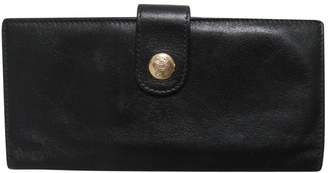 Celine Black Leather Wallets