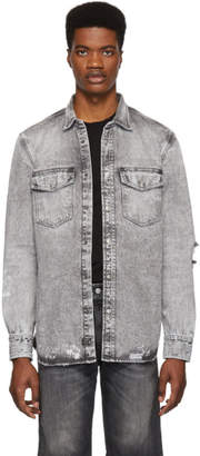 Diesel Grey Denim D-Rooke-L Shirt