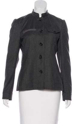 Miu Miu Long Sleeve Button-Up Jacket