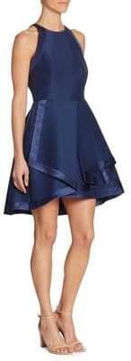 Halston Pleated Tiered Dress