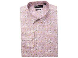 Nick Graham Floral Print Stretch Dress Shirt Men's Long Sleeve Button Up