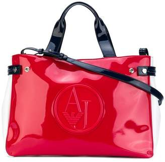 Armani Jeans high shine tote bag