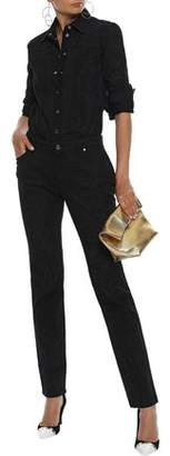 Versace Printed Mid-rise Slim-leg Jeans