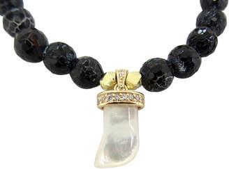 Dripping In Gems Pearl Horn Charm Bracelet