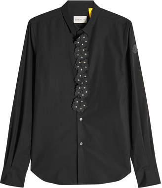 Noir Kei Ninomiya Moncler Genius 6 Moncler Cotton Shirt with Leather Flower